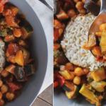 Cizrnové curry se zázvorem a rýží